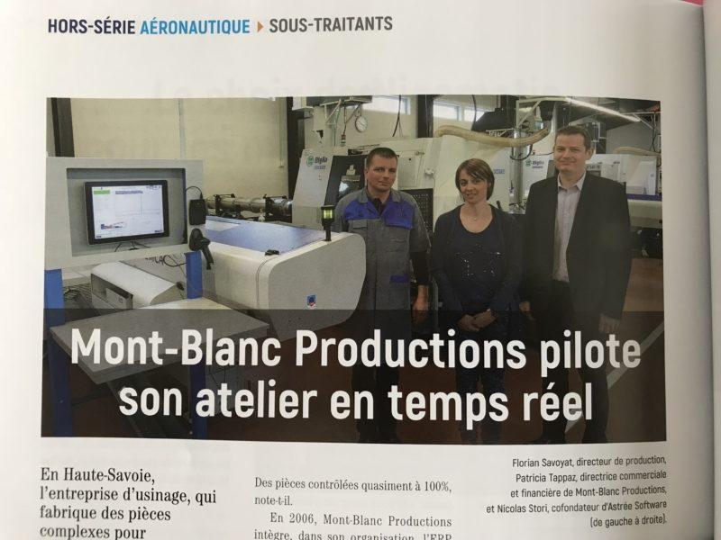 MONT BLANC PRODUCTIONS dans le Hors-Série spécial Aéronautique du magazine MACHINES PRODUCTION !